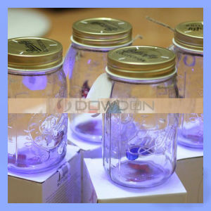 4 Farben Electronic Butterfly in Jar Lid mit LED für Customized Logo (BUTTERFLY-01)