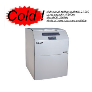 Популярная высокоскоростная большая емкость Refrigerated Centrifge (GL20)