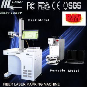 Machine d'inscription de laser de fibre de crayon lecteur en métal de machine d'inscription de laser du modèle 2016 neuf pour le prix en métal (HSGQ-10W)