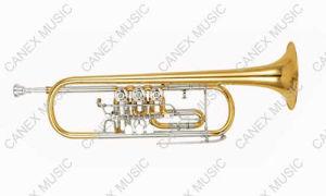 Trompette rotatoire de qualité supérieur (TR-400L)/trompette instrument en laiton