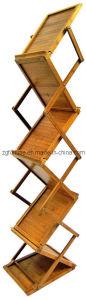 Carrinho do folheto de Floding/suporte de bambu (F3-11)