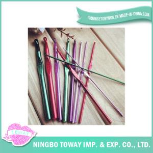 Ganchos de Crochet de alumínio do metal misturado Multicolor das agulhas de confeção de malhas