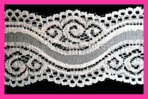 Fashion Nylon Double Side Wave Lace Trimming 53
