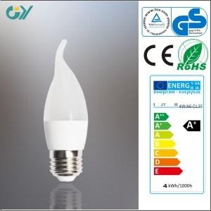Ampoule en plastique de bougie de la haute énergie 6W DEL (CE RoHS)