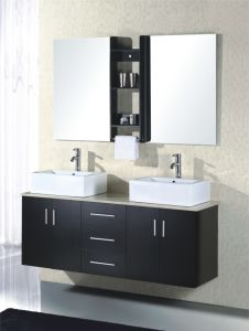 MDFの二重浴室用キャビネットの新しい普及したSnitarywareの浴室の虚栄心(819)