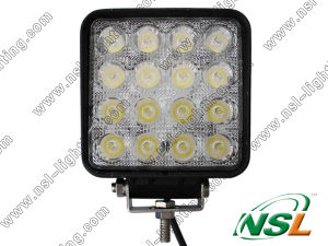 10-30V 48W 16LEDs Spot/Flood Beam DEL Work Fog Light pour Jeep Boat Offroad, 4WD Truck Working Lamp 6000k Offroad (NSL-4816A-48W)