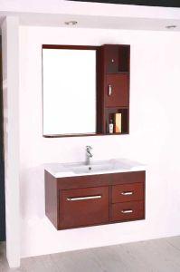 カシの浴室用キャビネットのSolidwood衛生製品の浴室の虚栄心(W-101)