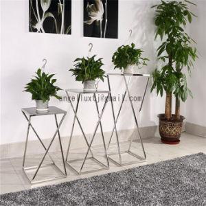 estantes modernos de la maceta del mrmol del estante de la flor de los muebles del