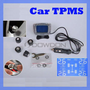Auto Tire Pressure Monitoring System Sensors Wireless Universal TPMS mit Display für Cigarette Plug (TPMS-01)