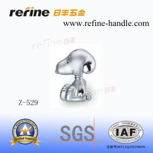 Bouton en alliage de zinc de dessin animé de Cabinet de matériel (Z-529)