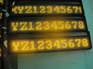 Afficheur LED blanc de bus des textes de la qualité P8mm (NL-SM-W-8MM-7*80)