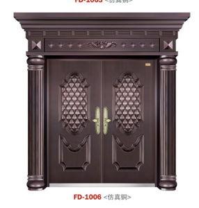 De Leverancier van de Deur van het Staal van China van de Deur van de ingang (f-d-1006)