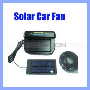 Schwarzes Selbstsolarauto-Solarventilator mit dem Gummi-Abstreifen (FAN-01)