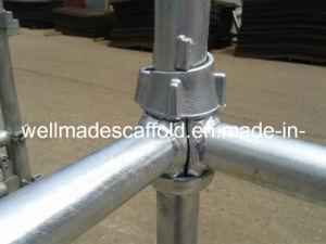 Andamio de acero del sistema Cuplock del Taza-Bloqueo del poste del encofrado de la columna