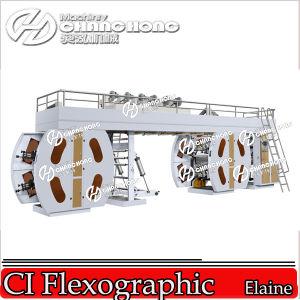 Precio flexible central de la maquinaria de impresión del papel de empapelar del tambor del apilado de 6 colores (CH886)