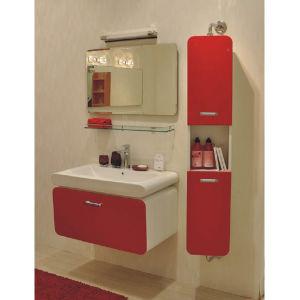 Module de salle de bains rouge de laque d 39 euro miroir for Module salle de bain