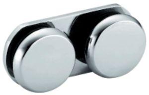 Braçadeira de vidro do chuveiro de uma forma redonda de 180 graus (FS-536)