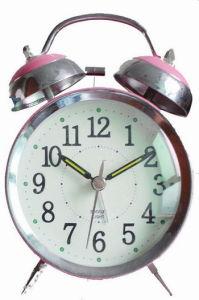 Horloge d'alarme de Bell en métal (KV209)