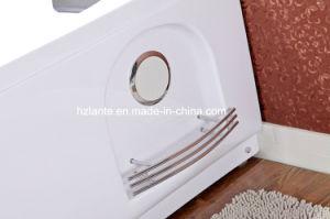 Bañera de acrílico del torbellino del masaje doble de la persona con la almohadilla (TLP-665)