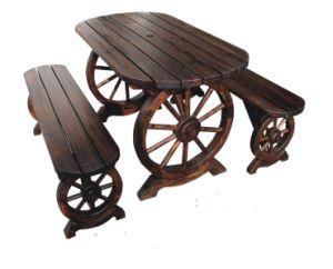 고정되는 테이블 및 의자를 식사하는 옥외 정원 안뜰 가구 ...