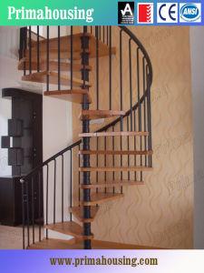 hierro forjado madera escalera de caracol para interiores