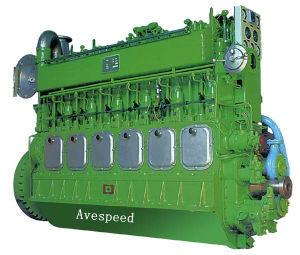 Низк-скорость Reliable Running Marine Diesel New Engine Avespeed Ga6300 735-1618kw
