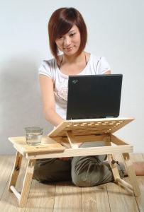 Mesa na cama, mesa do PC do PC do caderno, mesa refrigerando do portátil