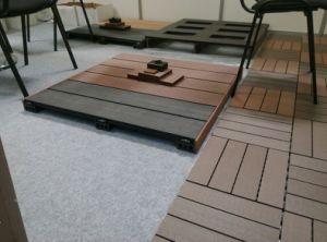 Plataforma de WPC, revestimento ao ar livre, assoalho composto plástico de madeira