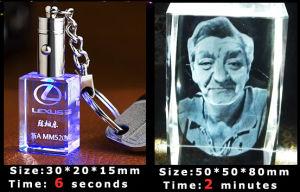 2d machine de gravure en cristal économique du laser 3D (HSGP-2KC)