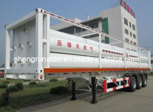 De samengeperste Semi Aanhangwagen van het Aardgas