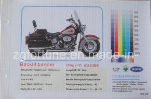 Bandeira retroiluminada 550g 300D*500D/18*12 do cabo flexível do PVC