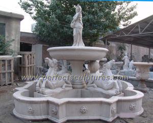 el agua fuente del jardn de escultura de piedra del jardn syf