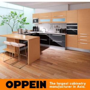 Melamina y gabinetes de cocina de acrílico de la forma de U (OP10-L051) de la manera de Oppein