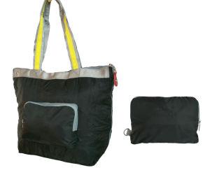 Saco de compra Foldable de nylon relativo à promoção da forma do saco