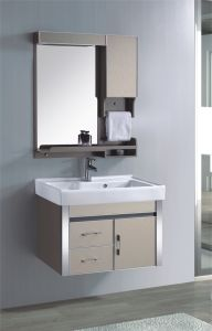 PVC浴室用キャビネットのSanitarywareの虚栄心(339-1)