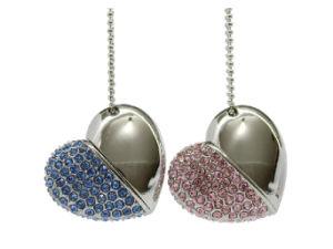 Diamante de cristal corazón forma USB Flash Drive