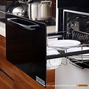 Pintura marrón y negro UV clásico Mobiliario de cocina (OP13-271)