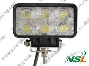 Lampe de Lwork d'automobile d'EMC 18W 6LED, lumière rectangulaire du faisceau LED d'inondation, entraînement tous terrains rond de lampe de LED