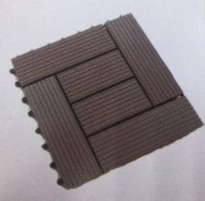 Telha ao ar livre da plataforma do Decking do bloqueio composto plástico de madeira da telha do Decking