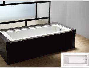 Le parasite de bride de carrelage de cupc incluent le mod le acrylique d 39 am ricain de baignoire for Petite baignoire profonde
