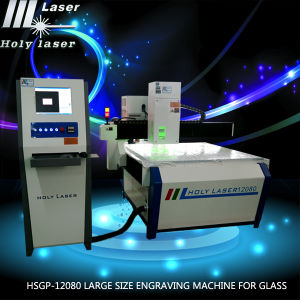 Machine de grande taille en verre secondaire d'imprimeur de gravure de laser de la surface 3D pour Hsgp-L en verre
