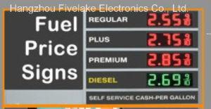 Signe de commutateur de prix du gaz de 6 pouces DEL (NL-TT15SF9-10-3R-RED)