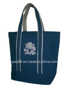 Bolsa do saco de compra da lona do Tote da forma