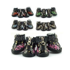 Baumwolle aufgefüllte neue materielle Winter-Haustier-Schuhe