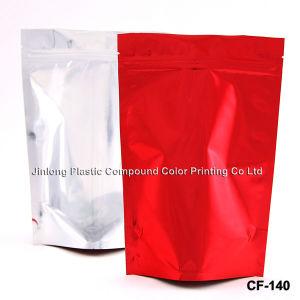포일 보통 1회분의 커피 봉지를 위로 서 있으십시오