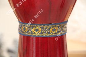 Salut tambour en bois de Djembe de lustre (DJB100RW)