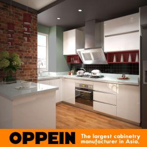 Oppein 아시아 프로젝트 백색 U 모양 래커 부엌 찬장 (OP15-L08 ...