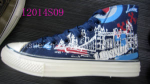 Top elevado Canvas Shoes com House Printing
