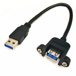 USB3.0 un mâle à une femelle avec montage sur panneau