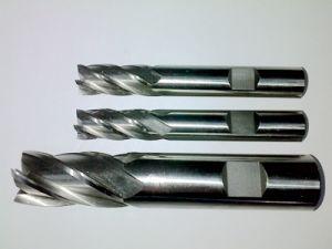 Molino de extremo de tierra de la herramienta de corte de los molinos de extremo de DIN844 HSS